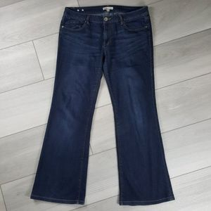CAbi #749L Zoe Flare Jeans Size 12 Buttery Soft